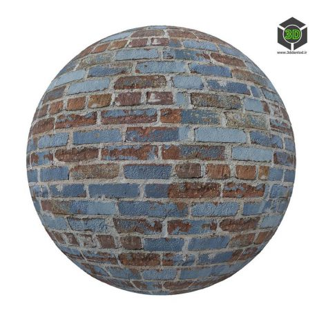 blue_and_brown_brick_wall_render (3ddanlod.ir)