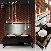 black wood washbasin (3ddanlod.ir) 063