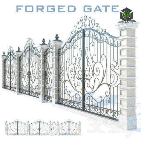FORGED ENTRANCE GATE N1(3ddanlod.ir) 352