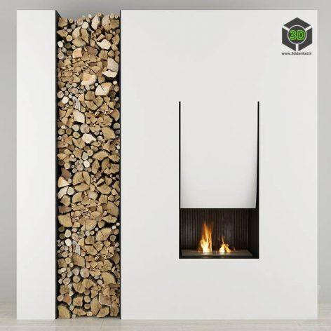 Fireplace and Firewood Antoniolupi(3ddanlod.ir) 1288
