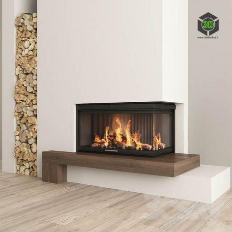 Fireplace and Firewood2(3ddanlod.ir) 914