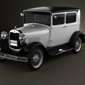 Ford Model A Tudor 1929 3D Model(3ddanlod.ir) 1999