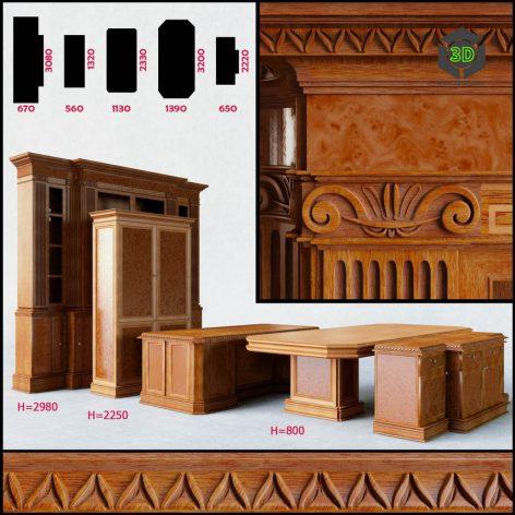 Furniture Group for Office(3ddanlod.ir) 013