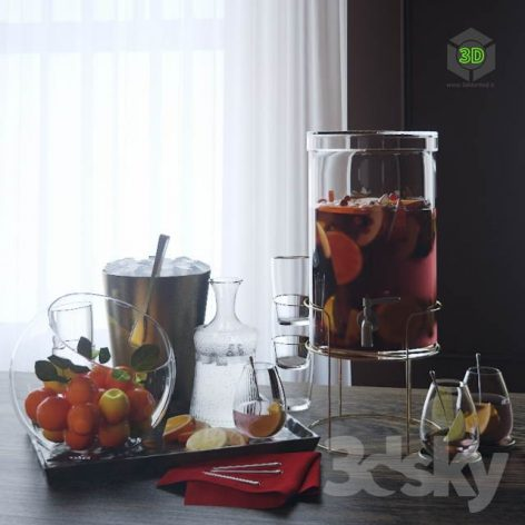 Glass Drink Dispenser by Crate and Barrel(3ddanlod.ir) 469
