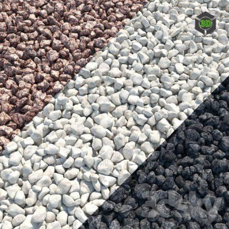 Gravel Red Granite Limestone Basalt(3ddanlod.ir) 208