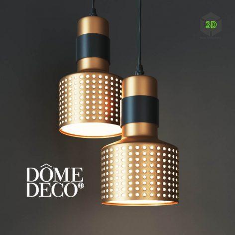 Hanging Lamp Dome Deco(3ddanlod.ir) 079