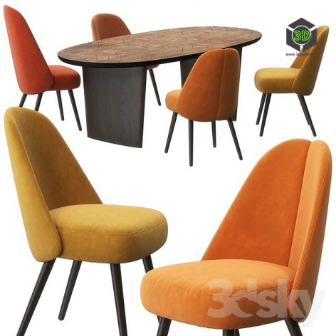 Identities Chairs Patchwork Table by Roche Bobois(3ddanlod.ir) 1551