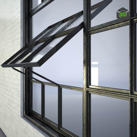 Industrial Factory Windows(3ddanlod.ir) 046
