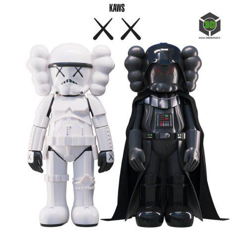 KAWS Stormtrooper Darth Vader(3ddanlod.ir) 2153