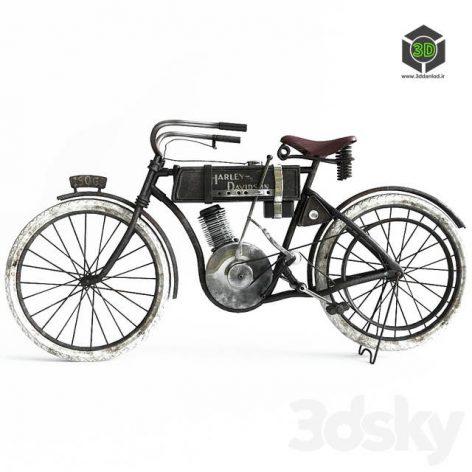 Motorbike Harley Davidson in 1906(3ddanlod.ir) 3315