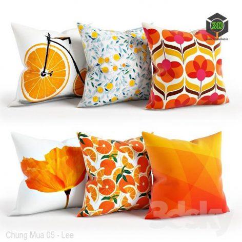 Orange Pillow Set 001(3ddanlod.ir) 3650