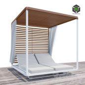 Pavilion Daybed Tribu Beach Chaise Longue Animated(3ddanlod.ir) 3610