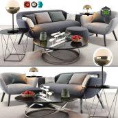 Poliform Mad Sofa Chair Set(3ddanlod.ir) 3731