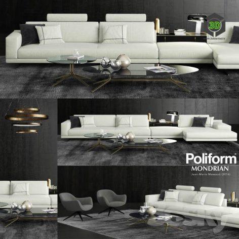 Poliform Mondrian Sofa 2(3ddanlod.ir) 3414