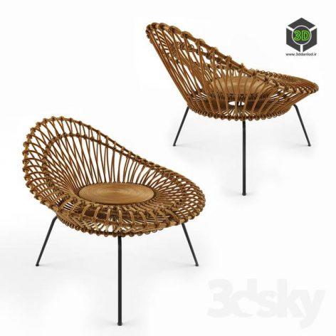 Rattan Lounge Chair(3ddanlod.ir) 3806
