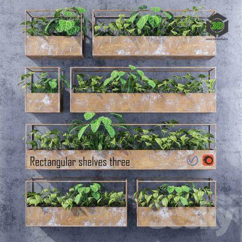 Rectangular Shelves Three(3ddanlod.ir) 3472