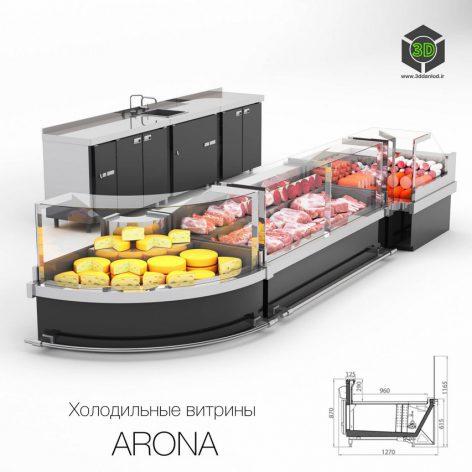 Refrigerated Display Cases ARONA(3ddanlod.ir) 3890