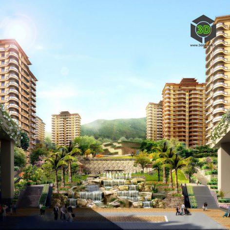 Residential Complex 030(3ddanlod.ir) 076