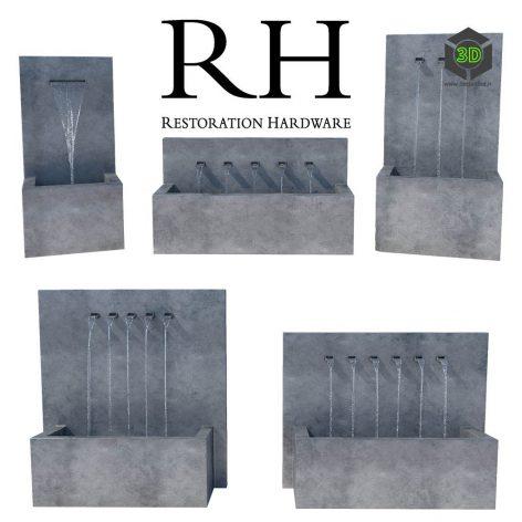 Restoration Hardware Weathered Zinc Fountains(3ddanlod.ir) 3140