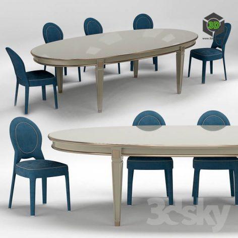 Ritz Medaillon Chair and Vendome Table(3ddanlod.ir) 3800