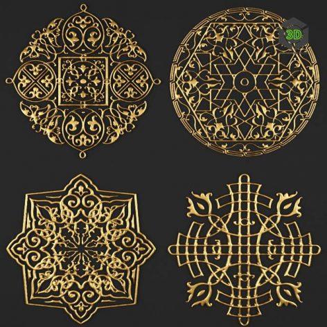 Rosette Pattern Carving 2(3ddanlod.ir) 4101
