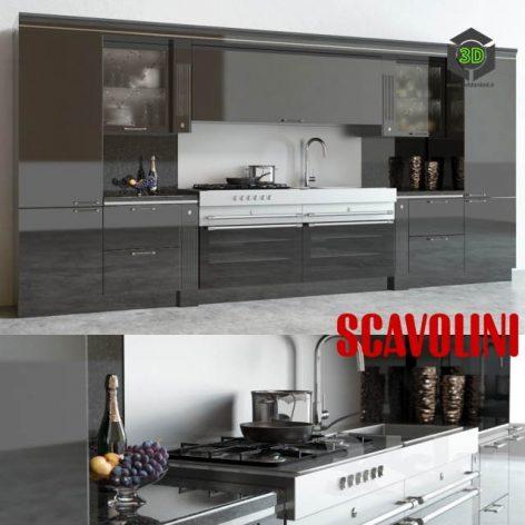Scavolini Baccarat Kitchen Black(3ddanlod.ir) 3294