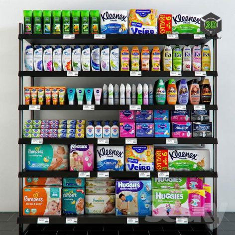 Shelving with Hygiene Products(3ddanlod.ir) 3577