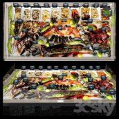 Showcase with Seafood(3ddanlod.ir) 3773
