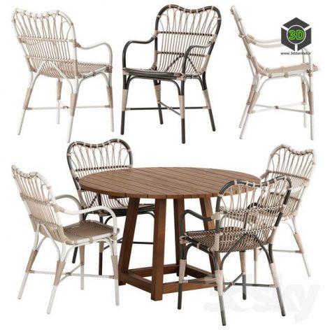 Sika Design Margret Chair George Table Set(3ddanlod.ir) 3830