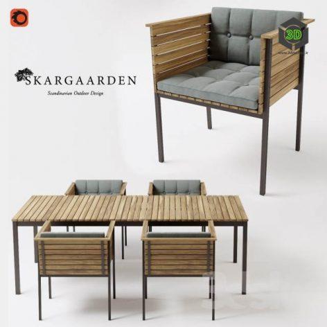 Skargaarden Haringe Armchair Table(3ddanlod.ir) 2957
