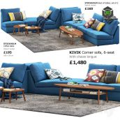 Sofa Ikea Kivik 6(3ddanlod.ir) 3004
