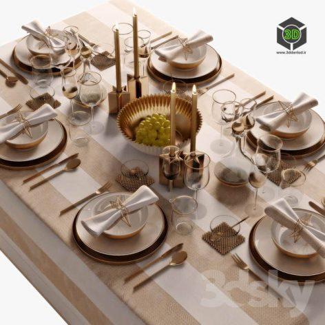 Table Setting 05(3ddanlod.ir) 2591