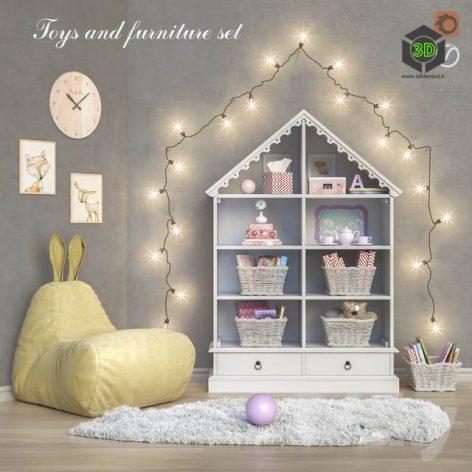 Toys and Furniture Set 21(3ddanlod.ir) 2637