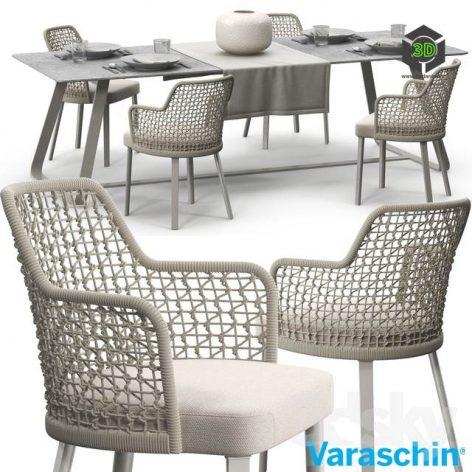 Varaschin Emma Chair Set(3ddanlod.ir) 2606