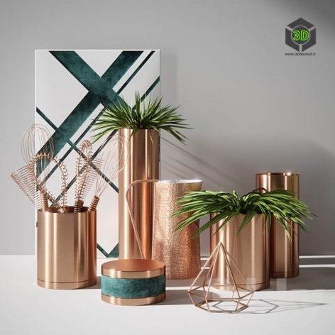 Vase Copper(3ddanlod.ir) 2531