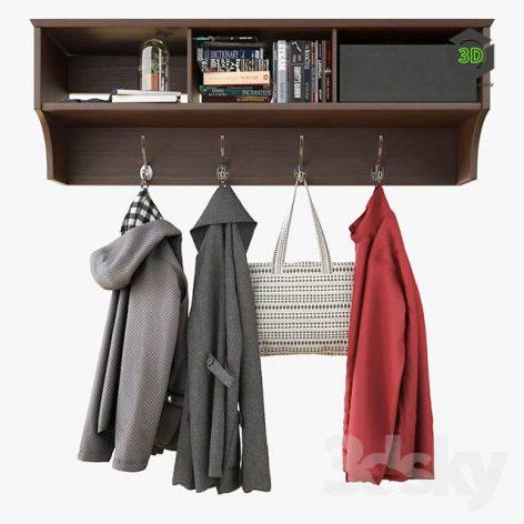 Wall Shelf With Clothes(3ddanlod.ir) 2618