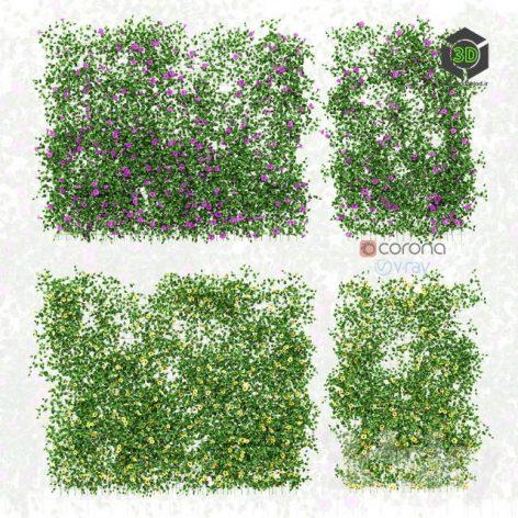 Wall of Flowers on the Grid(3ddanlod.ir) 2568