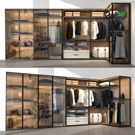 Wardrobe Molteni & C 2(3ddanlod.ir) 2839