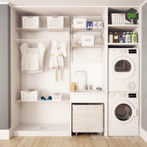 Washing and Drying Machine Bosch I Laundry(3ddanlod.ir) 2550
