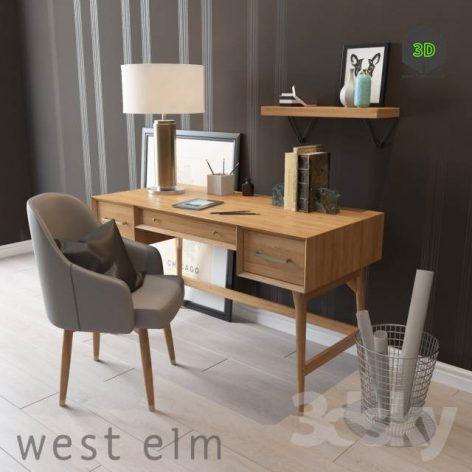 West Elm Mid Century Desk(3ddanlod.ir) 2508
