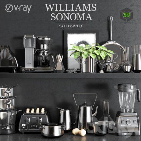 Williams Sonoma Chrome Set(3ddanlod.ir) 2559