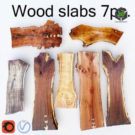 Wood Slab Wooden Slab 7Pcs(3ddanlod.ir) 2808