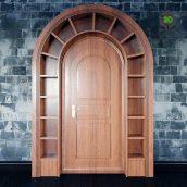 Wooden Arched Doorway(3ddanlod.ir) 2444