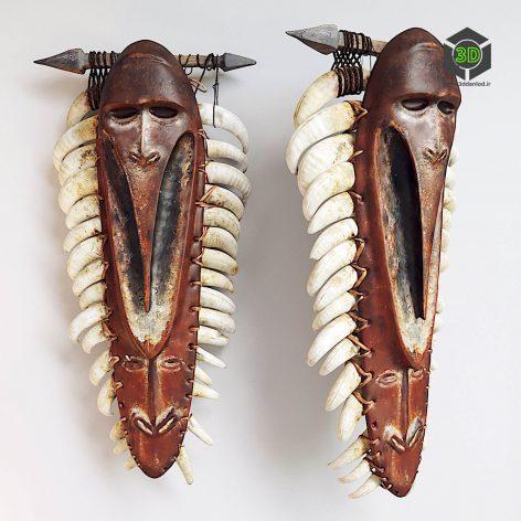 African Shaman Mask(3ddanlod.ir) 834