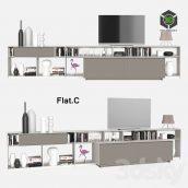 B & B Italia WALLSYSTEMS FlatC 10(3ddanlod.ir) 651