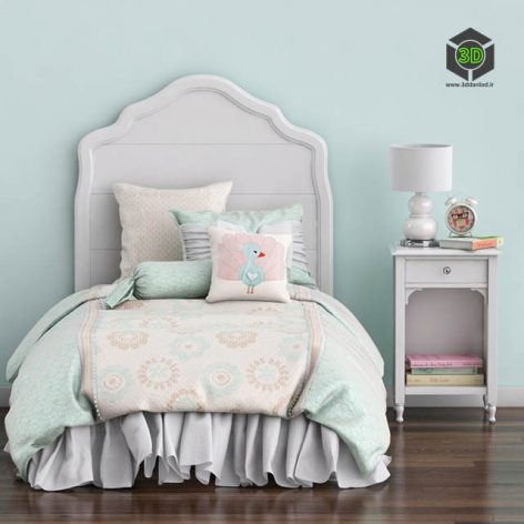 Baby Bed and Nightstand Juliette, Pottery Barn Kids(3ddanlod.ir) 956