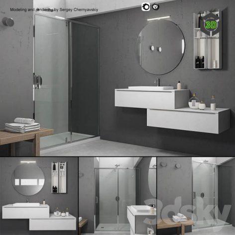 Bathroom Furniture Set Arcom eLy 5(3ddanlod.ir) 661
