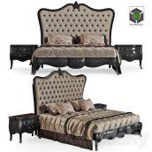 Bed with Curbstones Pregno Byblos(3ddanlod.ir) 563