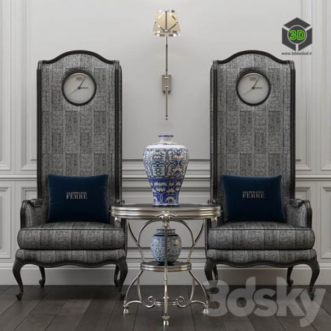 Big Ben Chair and Covent Table(3ddanlod.ir) 410