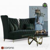 Bois De Vincennes Sofa Set(3ddanlod.ir) 664